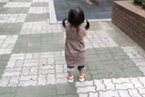 Little Girl Can`t Stay Mad With Squeaky Shoes On