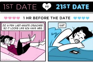 How Your 1st Date Compares To Your 21st Date (11 pics)