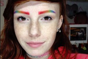 Colorful `Rainbow Eyebrows` Are The Latest Unique Beauty Trend! (9 pics)