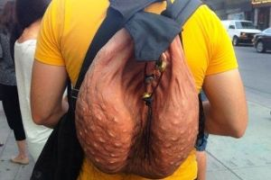 So That Disgustingly Real, Viral 'Scrotum Backpack' Is Officially Going On Sale