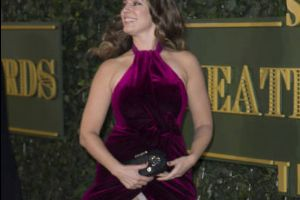 Kelly Brook Fails to Cover Up on the Red Carpet at the Evening Standard Theatre Awards (4 pics)