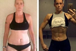 Woman dropped six dress sizes after taking up bodybuilding in last-ditch bid to lose weight and change her life
