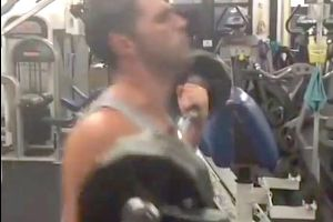 This Is Getting Out Of Hand Now! – Hilarious Guy Invents The CrossFit Style Bicep Curl Called The `Kipping Curl`!