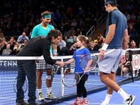 Epic Doubles Match: Rafael Nadal and actor Ben Stiller vs del Potro and a little girl