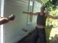 "Today on ""Why Nigga?"": Man tests a bulletproof vest over bare skin with a.32"