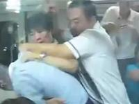 Chinese Passengers Fight For One Available Seat On The Train